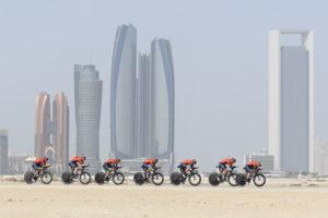 مرحباً (Marhaban!) from Stage 1 of the UAE Tour