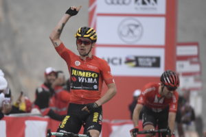 Primoz Roglic wins Stage 6 of the UAE Tour and secures the Red Jersey
